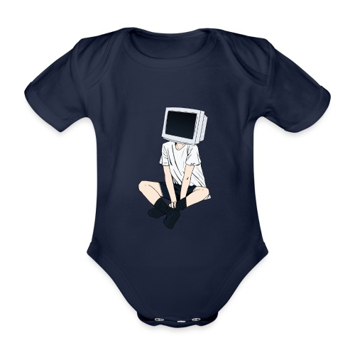 Monitor Head 3 - Organic Short-sleeved Baby Bodysuit