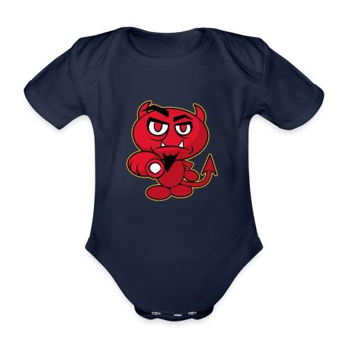 Monster Devil - Organic Short-sleeved Baby Bodysuit