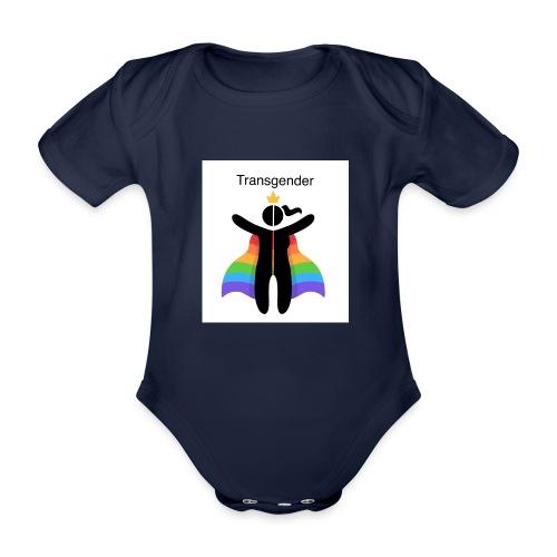 LGBT Transgender - Kortærmet babybody, økologisk bomuld
