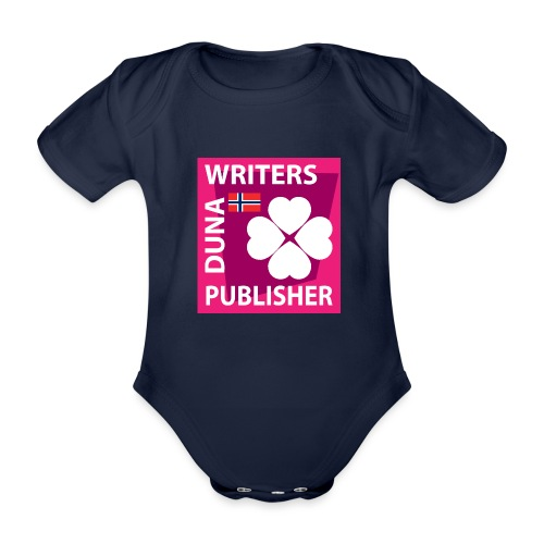 Duna Writers Publisher Pink - Økologisk kortermet baby-body