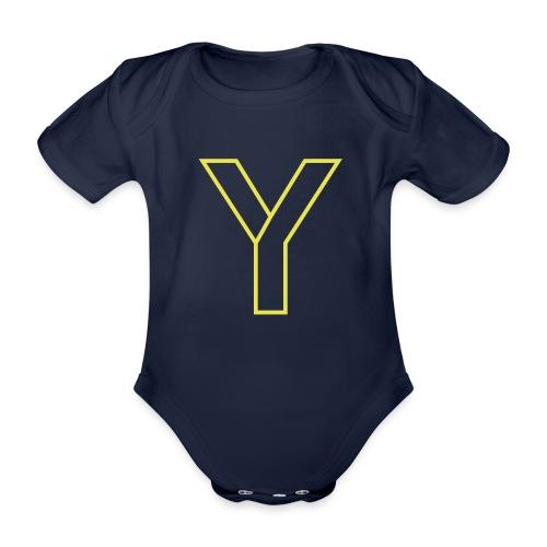 ChangeMy.Company Y Yellow - Baby Bio-Kurzarm-Body