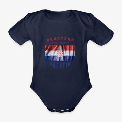 Croatia Hrvatska Flag - Baby Bio-Kurzarm-Body