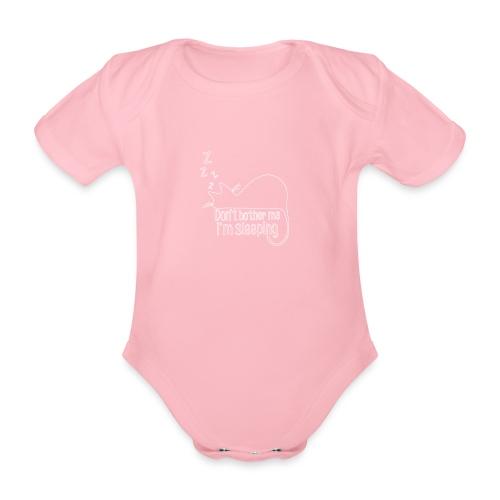 Sleeping cat - Organic Short-sleeved Baby Bodysuit