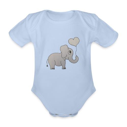 LackyElephant - Baby Bio-Kurzarm-Body