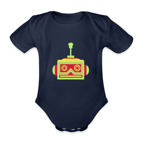 Robot head - Organic Short-sleeved Baby Bodysuit