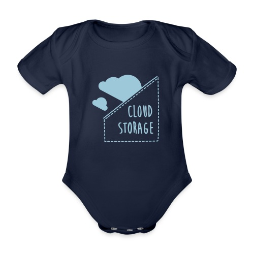 Cloud Storage - Baby Bio-Kurzarm-Body