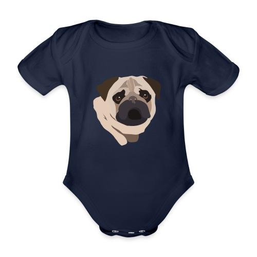Pug Life - Organic Short-sleeved Baby Bodysuit