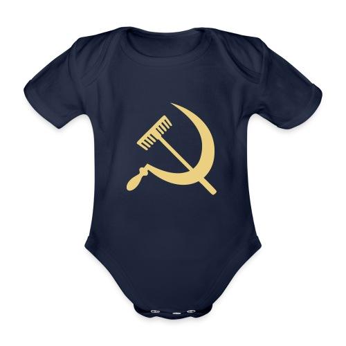 Falce e rastrello, sickle and rake! - Body ecologico per neonato a manica corta