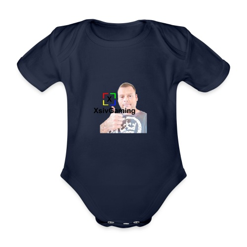 xsivgaming face - Organic Short-sleeved Baby Bodysuit
