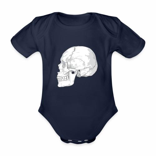 Schädel - Baby Bio-Kurzarm-Body