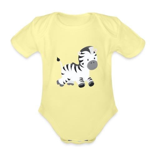 Zebra - Baby Bio-Kurzarm-Body