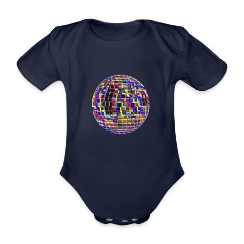 Boule à facettes psychédélique - Body Bébé bio manches courtes