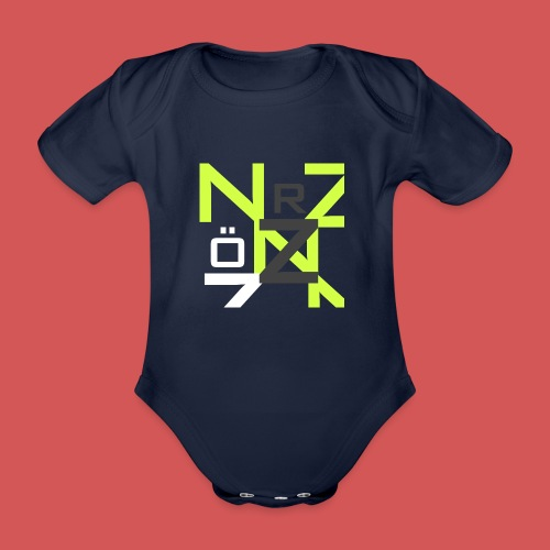 Nörthstat Group™ Clear Transparent Main Logo - Organic Short-sleeved Baby Bodysuit