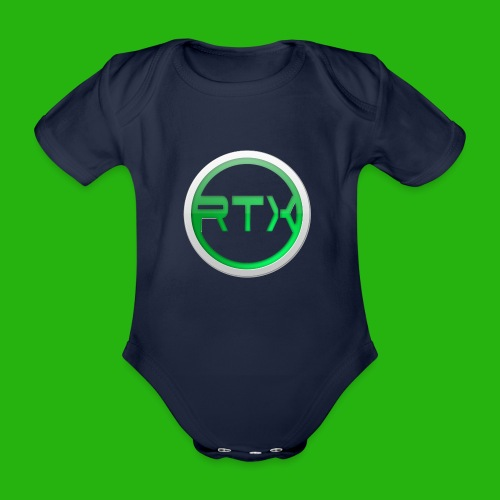 Logo SnapBack - Organic Short-sleeved Baby Bodysuit