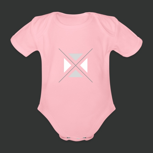 triangles-png - Organic Short-sleeved Baby Bodysuit