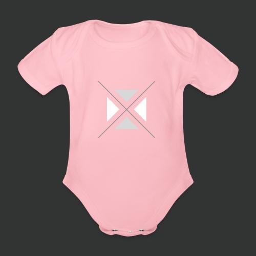 hipster triangles - Organic Short-sleeved Baby Bodysuit