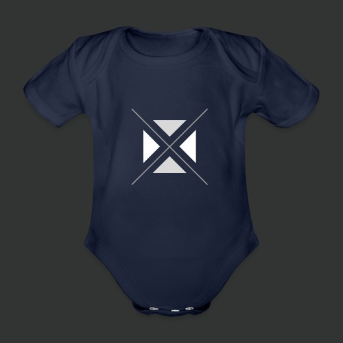hipster triangles - Organic Short-sleeved Baby Bodysuit