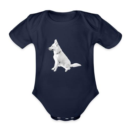 Daron White Dog - Ekologiczne body niemowlęce z krótkim rękawem
