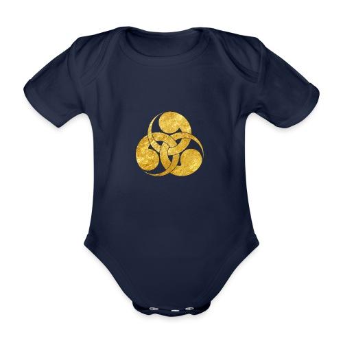 Tadpole Mon Japanese samurai clan - Organic Short-sleeved Baby Bodysuit