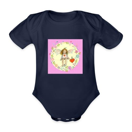 Kleiner rosa Engel - Baby Bio-Kurzarm-Body