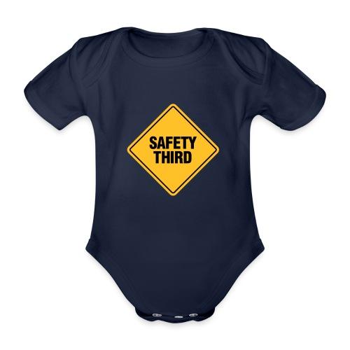 SAFETY THIRD - Organic Short-sleeved Baby Bodysuit