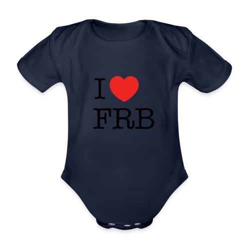 I Love FRB - Børnekollektion - Kortærmet babybody, økologisk bomuld