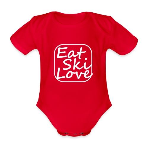 eat ski love - Baby bio-rompertje met korte mouwen