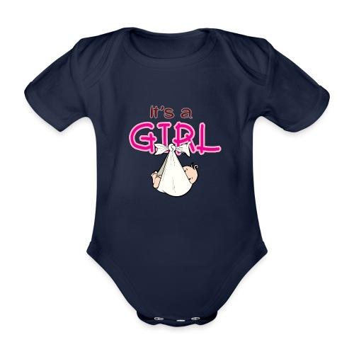 Babyshower It's a Girl - Baby bio-rompertje met korte mouwen