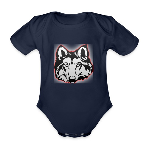 Wolfie (Red) - Organic Short-sleeved Baby Bodysuit