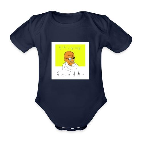 Gandhi - Baby Bio-Kurzarm-Body