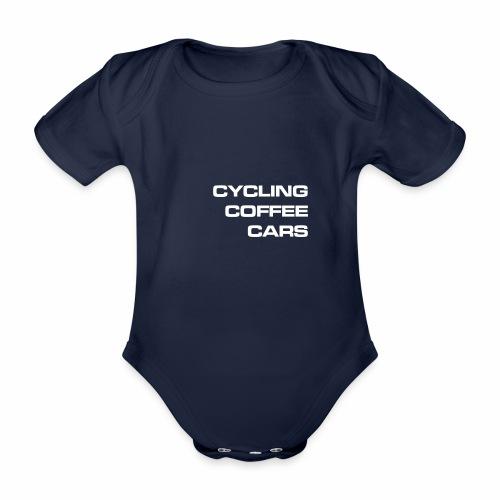 Cycling Cars & Coffee - Organic Short-sleeved Baby Bodysuit