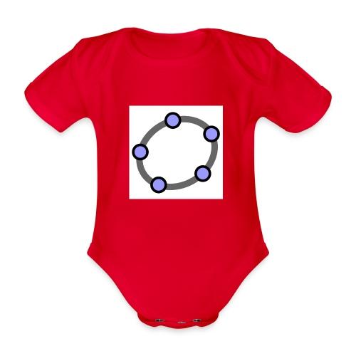 GeoGebra Ellipse - Organic Short-sleeved Baby Bodysuit