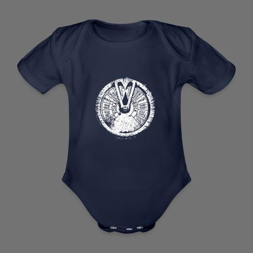 Maschinentelegraph (white oldstyle) - Organic Short-sleeved Baby Bodysuit