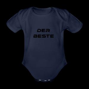 Der Beste schwarz - Baby Bio-Kurzarm-Body
