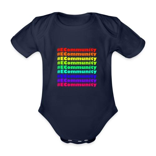 Ecommunity Rainbow - Baby Bio-Kurzarm-Body