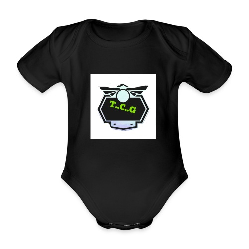 Cool gamer logo - Organic Short-sleeved Baby Bodysuit