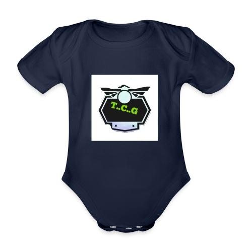 Cool gamer logo - Organic Short-sleeved Baby Bodysuit