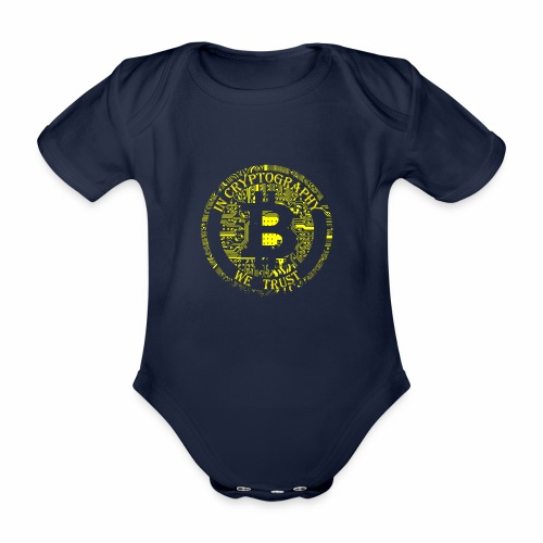 In cryptography we trust 2 - Organic Short-sleeved Baby Bodysuit