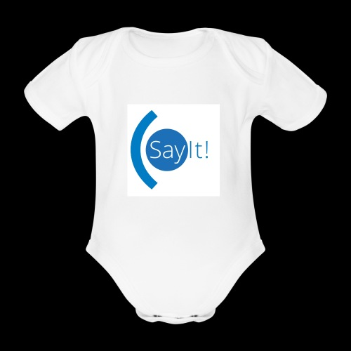 Sayit! - Organic Short-sleeved Baby Bodysuit