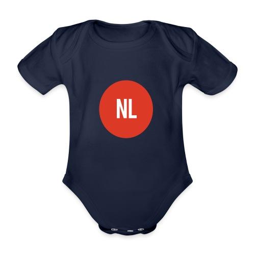 NL logo - Baby bio-rompertje met korte mouwen