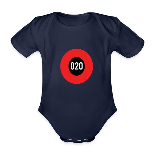020 logo - Baby bio-rompertje met korte mouwen