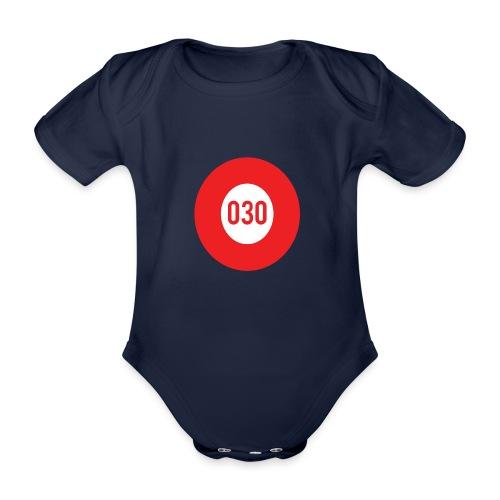 030 logo - Baby bio-rompertje met korte mouwen