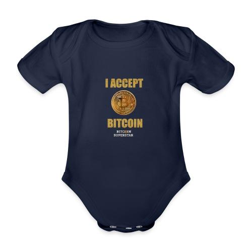 I accept bitcoin - Body ecologico per neonato a manica corta