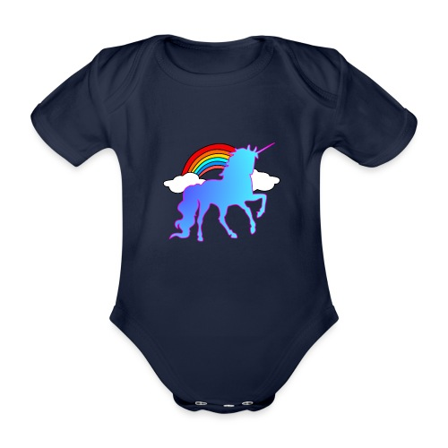 Einhorn Design - Baby Bio-Kurzarm-Body