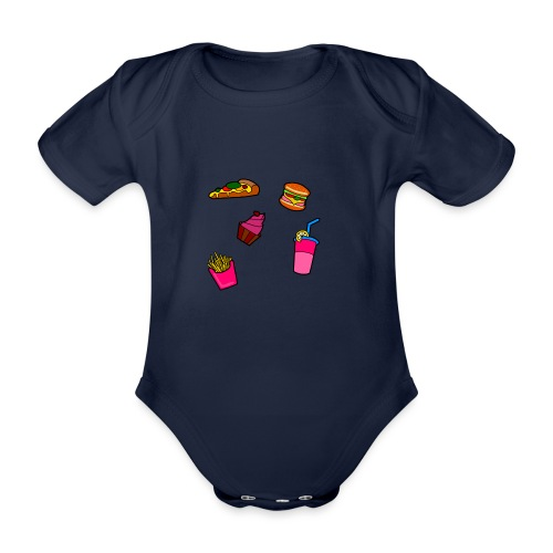 Fast Food Design - Baby Bio-Kurzarm-Body