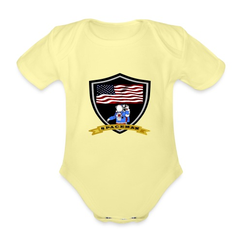 Spaceman Design - Baby Bio-Kurzarm-Body