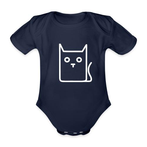 Katze Weiß - Baby Bio-Kurzarm-Body