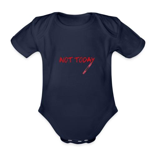 Not Today! - Organic Short-sleeved Baby Bodysuit