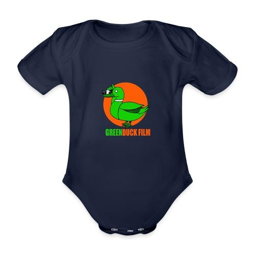 Greenduck Film Orange Sun Logo - Kortærmet babybody, økologisk bomuld