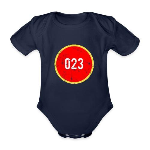 023 logo 2 washed regio Haarlem - Baby bio-rompertje met korte mouwen